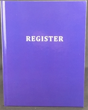 Printed Hard Cover Masonic officer, member and visitor register
