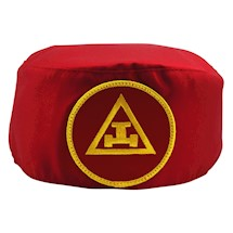 Royal Arch Skull Cap Red yellow patch