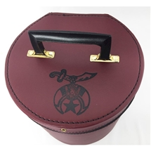 Red Tall Fez Case with Shrine emblem