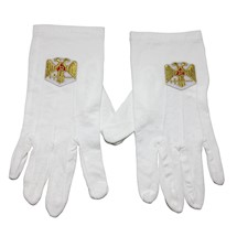 Scottish Rite 32 degrees gloves wings down
