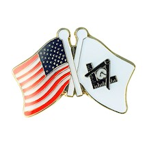US Flag /Masonic S & C Lapel Pin