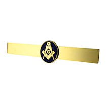 Masonic Goldtone Tie Bar w/ Emblem