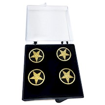 Eastern Star Button Covers - Set of 5