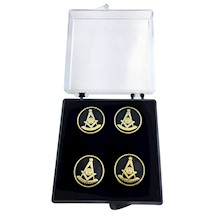 Past Master Button Covers - Set of 5