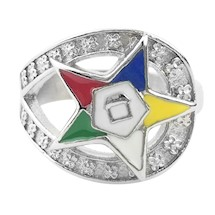 Order of Eastern Star Ring (Stainless) 5937