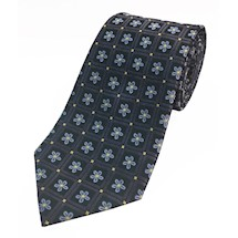 Masonic Forget-Me-Not Premium Woven Silk Tie