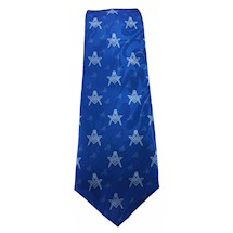 Blue Masonic Forget-Me-Not tie w S&C