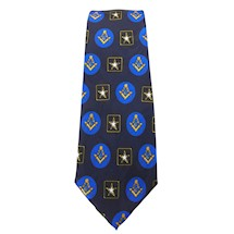 Masonic Army Navy Blue Tie