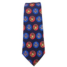 Masonic Marine Navy Blue Tie