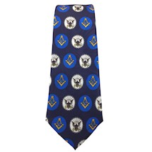 Masonic Navy Tie in Navy Blue