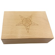 OES Keepsake Box with inlaid tile