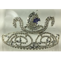Daughter of Isis Crown silver tone white rhinestones