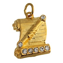 OES Conductress Charm Goldtone