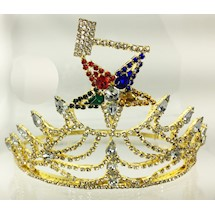 O.E.S. Matron Crown Goldtone
