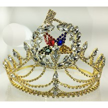 O.E.S. Grand Matron Crown Goldtone