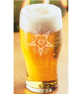 OES engraved Tulip Beer Glass