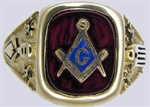 Masonic Ring - Forget Me not - 11001
