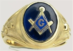 Masonic Ring Plumb & Trowel 11008