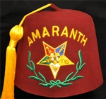 Amaranth fez- Scarlet with Yellow tassel