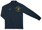 Texas Long Sleeve Masonic Blue Lodge Pique Polo Golf Shirt