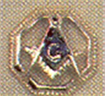 Masonic lapel pin 14 karat gold