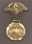 Antique Masonic Grand Lodge 1918 Badge
