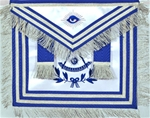 Masonic Apron - Past Master with Silk Embroidery and Non-Tarnish Fringe