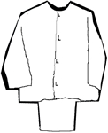 Masonic Candidate Cape and Trousers- White