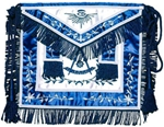 Masonic Past Master Apron with Wreath - Satin