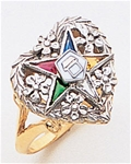 Order of the Eastern Star Ring Macoy Publishing Masonic Supply 3398