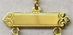 Gold filled bar with 3 loops and jump rings
