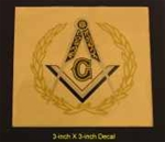 "3"" Masonic Decal"