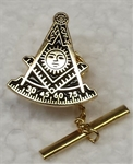Masonic Tie-Tack oval Goldtone