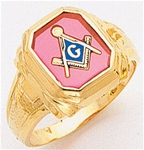 Masonic Ring - 5057 - Solid Back