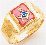 Masonic Ring - 5058SBL - solid back