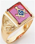 Masonic Ring - 5103 - solid back
