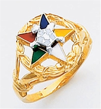 Order of the Eastern Star Ring Macoy Publishing Masonic Supply 5519