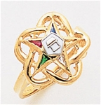 Order of the Eastern Star Ring Macoy Publishing Masonic Supply 5526