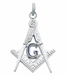 Masonic Pendant Sterling Silver floating G