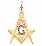 Masonic Pendant gold floating G