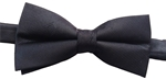 "Masonic Loom Woven Polyester Bow Ties 2"" - Black(tone on tone)"