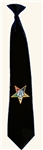 Black OES Clip-on Tie
