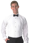 "Mens ""Lay-Down"" Collar 1/4"" Pleat Long Sleeve Tuxedo shirt"