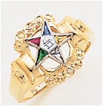 Order of the Eastern Star Ring Macoy Publishing Masonic Supply 8849