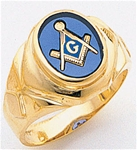 Masonic Ring - 9932 - solid back