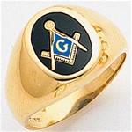 Masonic Ring - 9933 - solid back