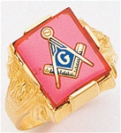 Masonic Ring - 9935 - solid back