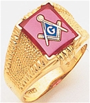 Masonic Ring - 9938 - solid back