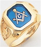 Masonic Ring - 9948 - open back