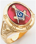 Masonic Ring - 9957 - solid back